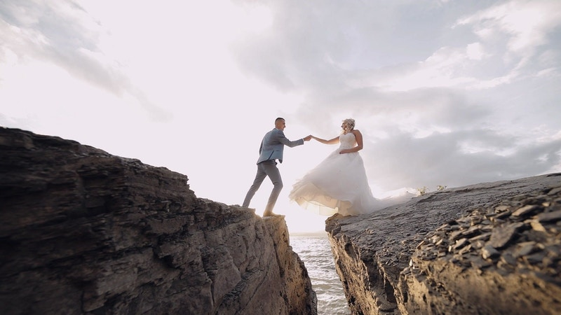 Beautiful wedding footage and animations